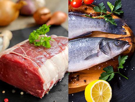 Offre de poissons et de viandes sur chronodrive.com