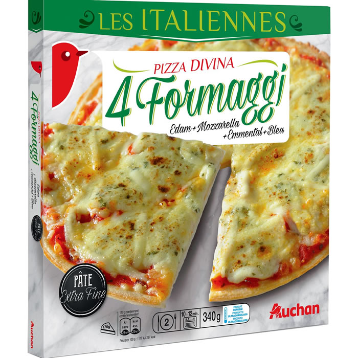 chronodrive auchan les italiennes pizza 4 fromages. Black Bedroom Furniture Sets. Home Design Ideas