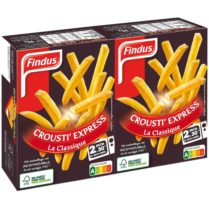Chronodrive findus crousti 39 express frites pour - Frite au micro onde ...
