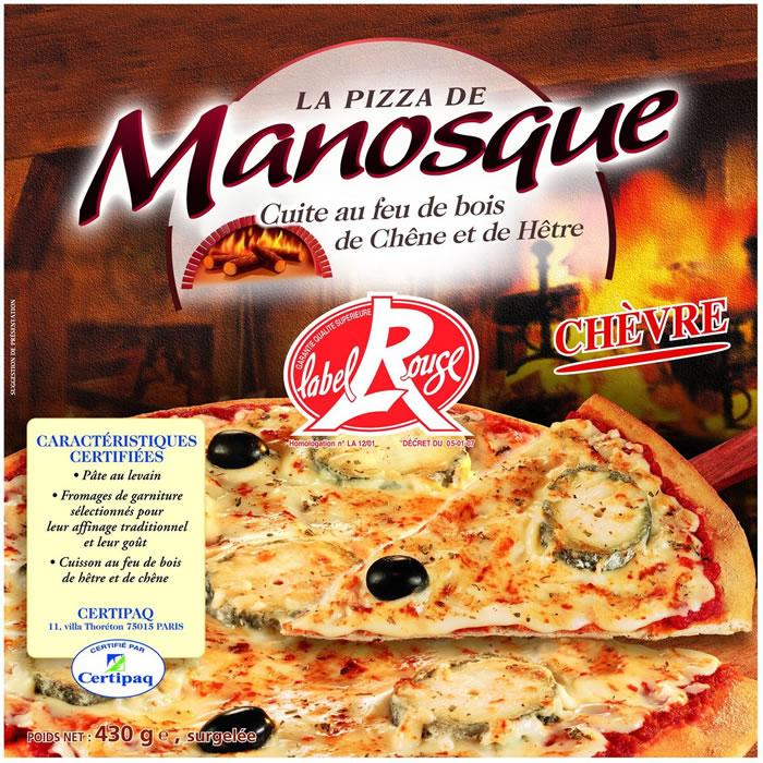 pizza au ch vre manosque 2 x 430 g shoptimise. Black Bedroom Furniture Sets. Home Design Ideas