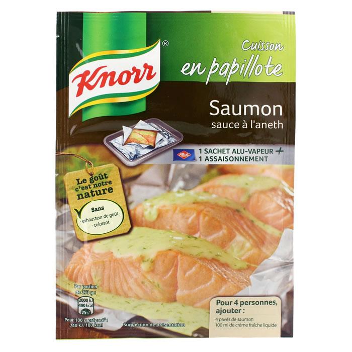 Assaisonnement pour cuisson de Saumon en Papillote,KNORR,28 g