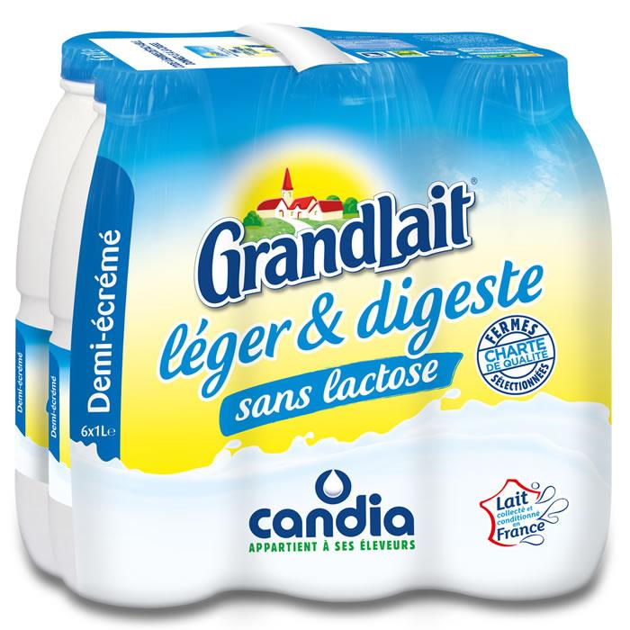 chronodrive candia grandlait lait demi cr m sans lactose uht. Black Bedroom Furniture Sets. Home Design Ideas